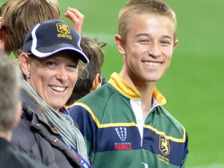 Melbourne Rugby Club Junior Coordinator Michelle Iezzi