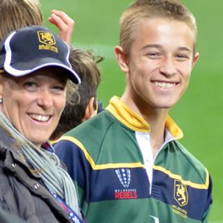 Melbourne Rugby Club Junior Coordinator Michelle Iezzi